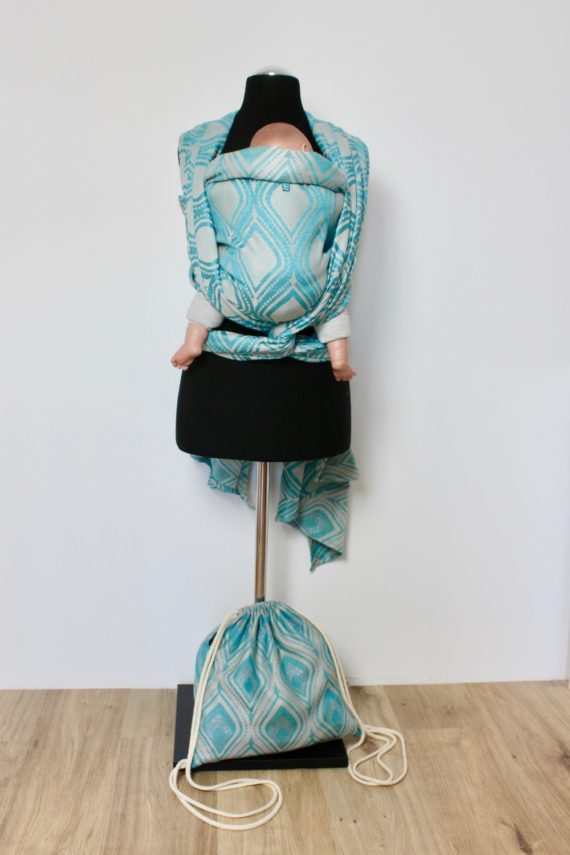 Tragetuch Kaami Slings Sparkling Peacock